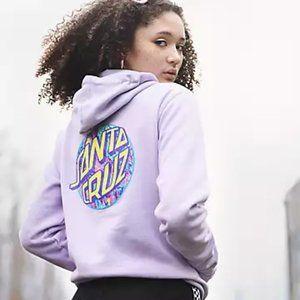 Santa Cruz Purple Lilac Lavender Skater Hoodie M